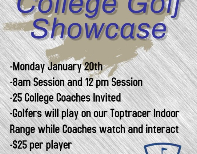 College Golf Showcase January 20th 8am