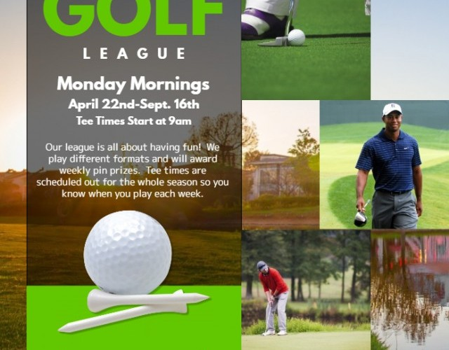 Monday Men's Senior League (Age 55+) April 22nd thru Sept 16th, 2019 (20 Weeks) $430.00 per person